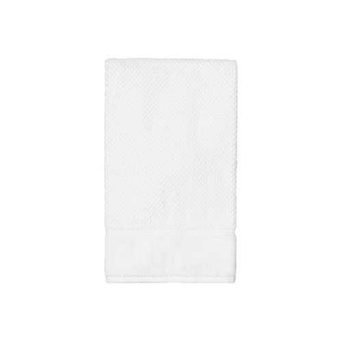 Set of 2 - White Textured Bath Towels