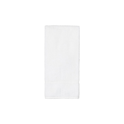 Set of 2 - White Textured Hand Towels