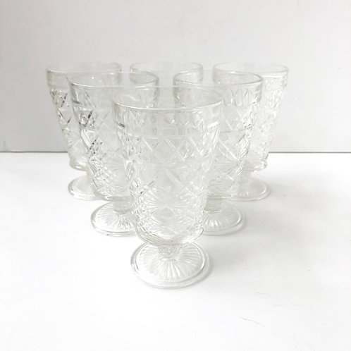Clear Goblets #17 - Set of 6