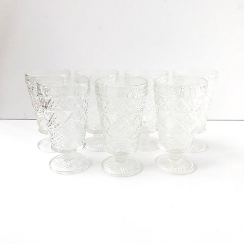 Clear Goblets #16 - Set of 7