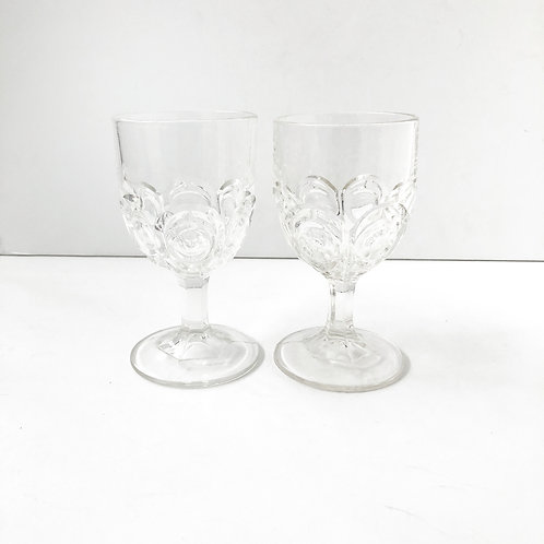 Clear Goblets #18 - Set of 2