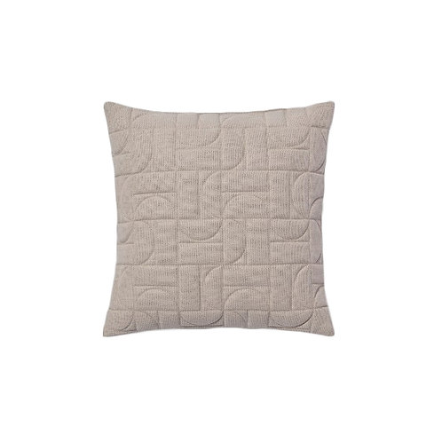 Quilted Geo Pillow - Beige