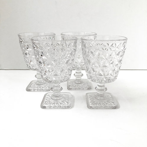 Clear Goblets #22 - Set of 4