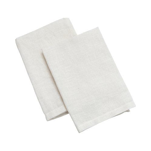 White Linen Napkins - Set of 4