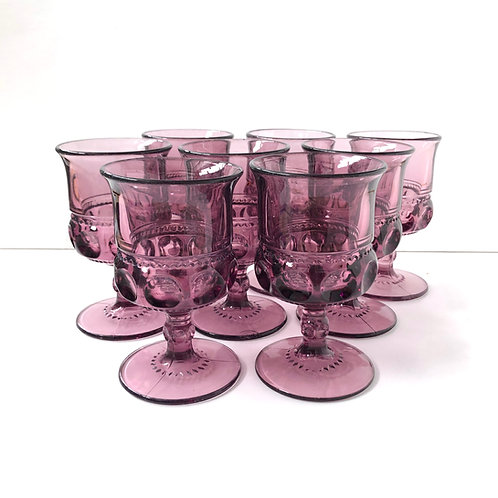Purple Goblets #6 - Set of 8