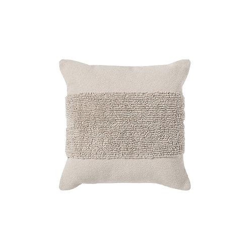 Tufted Modern Pillow - Greige