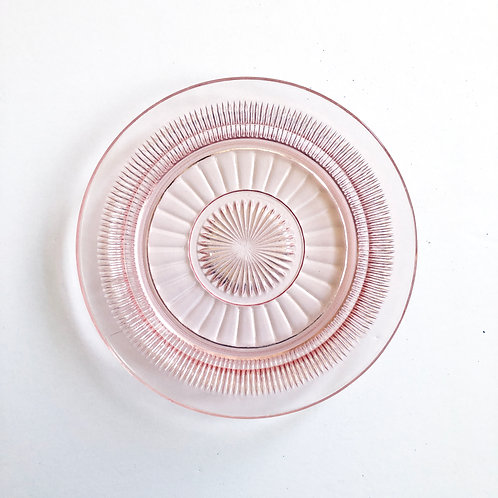 Pink Depression Glass Plates #28 - Set of 4