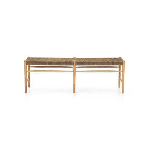 Wells Leather Bench