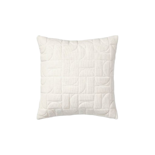Quilted Geo Pillow - White