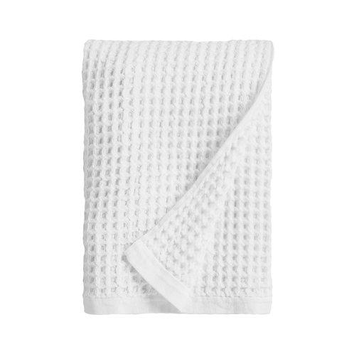 Set of 2 - White Waffle Weave Bath Towels