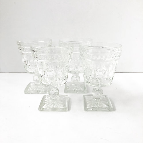 Clear Goblets #19 - Set of 4