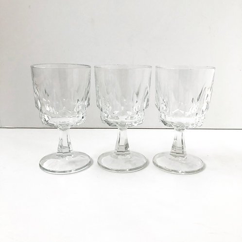 Clear Goblets #23 - Set of 3