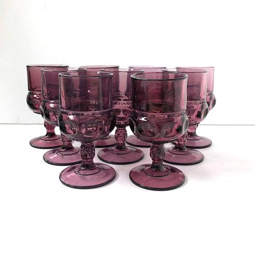 Purple Goblets #7 - Set of 9