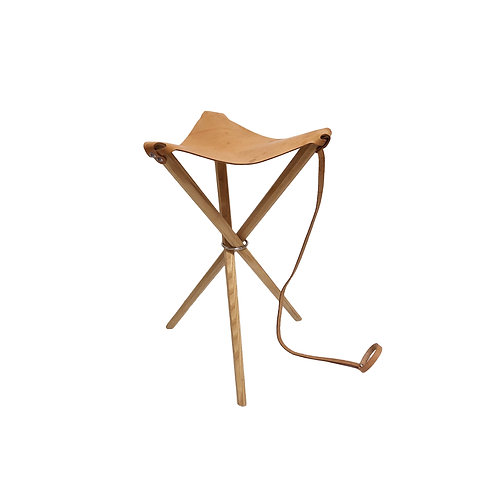 Leather Coyote Stool