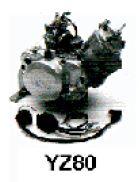 YZ80, Gokart Motor