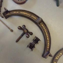 Large mangle press parts