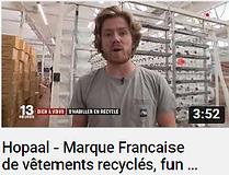 Photo de Clément Maulavé un des fondateurs de la marque Hopaal faisant le lien vers une vidéo Youtube du journal de France 2