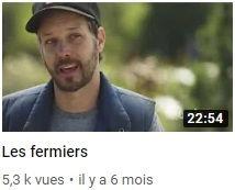 image représentant Jean Martin Fortier et permettant un lien vers une vidéo YouTube sur la ferme des quatre temps au Québec