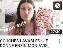 image représentant une vidéo de la chaîne YouTube Ecomaman faisant le lien vers une vidéo sur les couches lavables