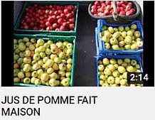 Photo de pommes rouges et jaunes dans des cagettes bleues faisant le lien vers la chaine YouTube nouvelle ferme du site d-demain annuaire alter/eco/infos