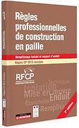 image montrant le manuel des règles professionnelles de construction en paille marron et faisant le lien vers le site RFCP