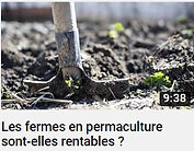 image d'une vidéo YouTube dont le sujet est : Les fermes en permaculture sont elles rentables ? illustré par une pelle qui creuse le sol