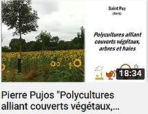 image d'une vidéo YouTube sur la chaîne du réseau Agreau faisant le lien vers une conférence de 18 minutes sur la polyculture alliant couverts végétaux, arbres et haies