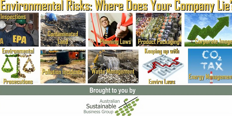 ASBG Environmental Risks: Where does your Company lie?