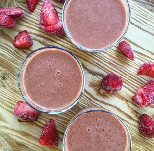 Strawberry smoothie with hidden veggies