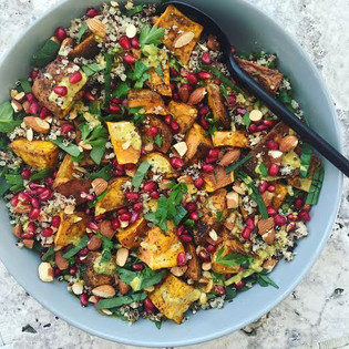 Quinoa, sweet potato and pomegranate salad
