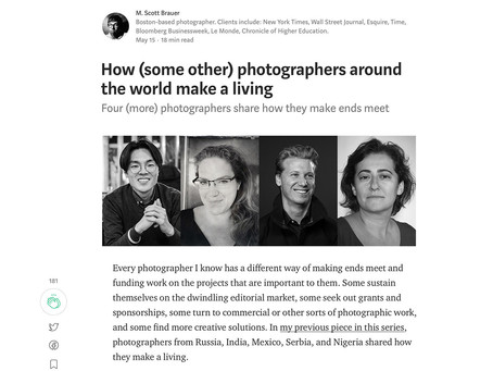 How some (other) photographers around the world make a living