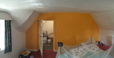 Bedroom freshened up with a statement wall