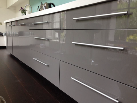 Lead grey gloss applied to units