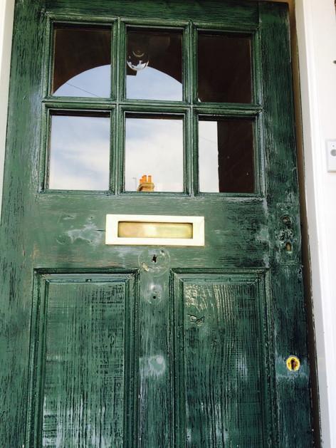 Front door getting prepped