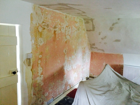 Crumbly period property getting necessary prep work