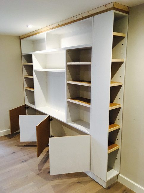 Bespoke built in TV and Book cabinet