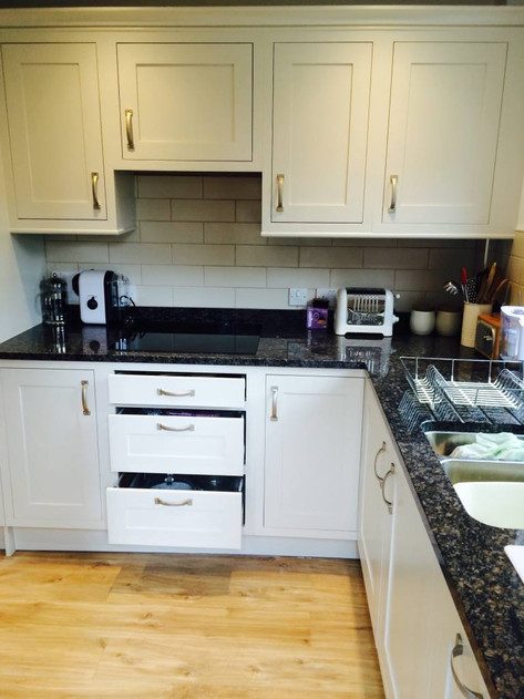 Kitchen furniture back on and ready to use