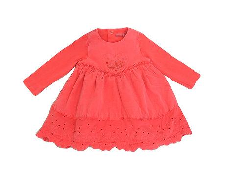 Robe Catimini rose fluo 12 mois