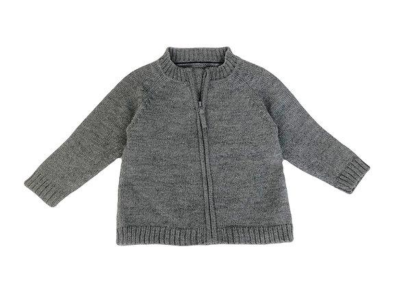 Gilet Bout'chou en laine gris 12 mois