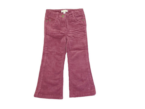 Pantalon Vertbaudet en velours rose 2 ans