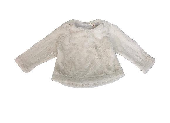 Pull Zara en fourrure  blanche 9/12 mois (80cm)
