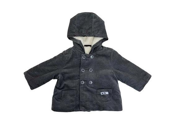 Manteau Sergent Major à capuche gris 6 mois