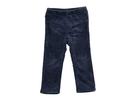 Pantalon Okaidi en velours bleu 2 ans