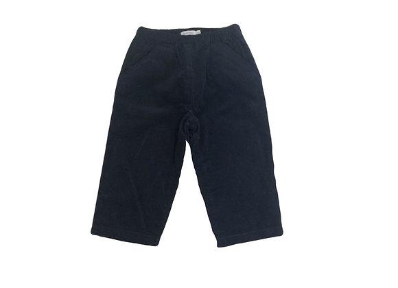 Pantalon Bout'chou velours bleu nuit 12 mois mixte