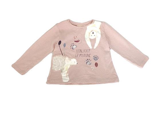 T-shirt Zara imprimé rose 12/18 mois (86cm)