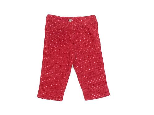 Pantalon Cadet Rousselle rouge doublé 12 mois