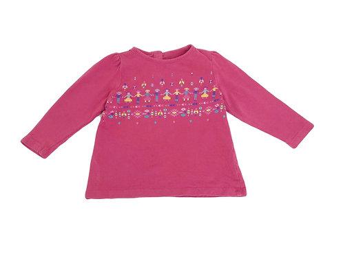T-shirt Bout'chou rose 12 mois