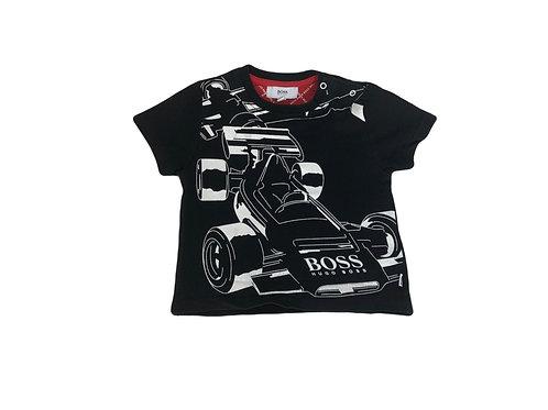 T-shirt Hugo Bosse noir imprimé 6 mois