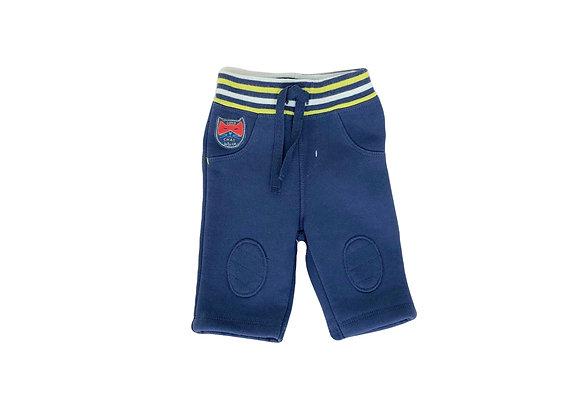 Pantalon LCDP bleu et jaune 1 mois