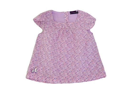 Blouse Sergent Major mauve 3 ans